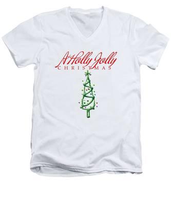 Holly Jolly Christmas Men's V-Neck T-Shirt