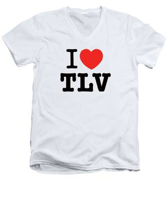 i love TLV Men's V-Neck T-Shirt