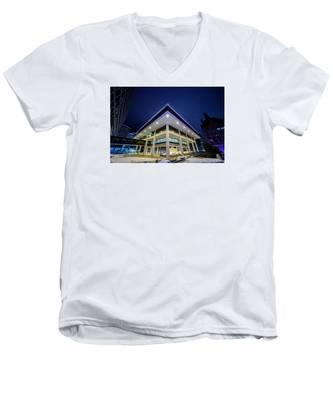 Inverted Pyramid Men's V-Neck T-Shirt