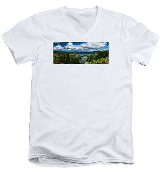 Men's V-Neck T-Shirt featuring the photograph Landscapespanoramas015 by Joseph Amaral