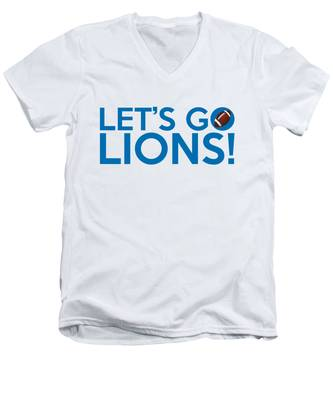 Let's Go Lions Men's V-Neck T-Shirt