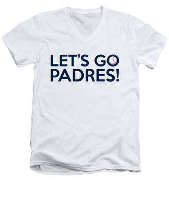 Let's Go Padres Men's V-Neck T-Shirt