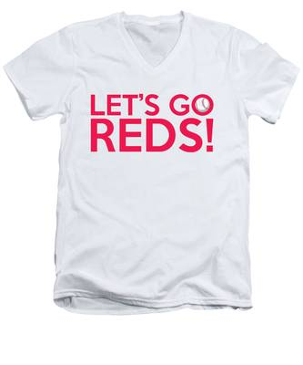 Let's Go Reds Men's V-Neck T-Shirt
