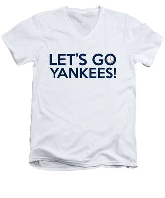 Let's Go Yankees Men's V-Neck T-Shirt