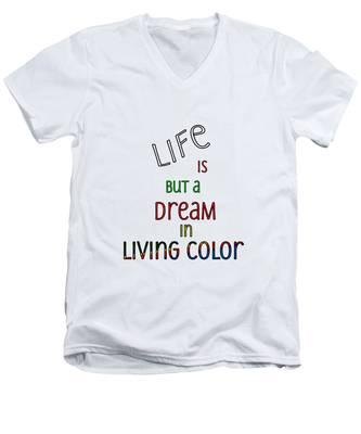 Life Is But A Dream Men's V-Neck T-Shirt