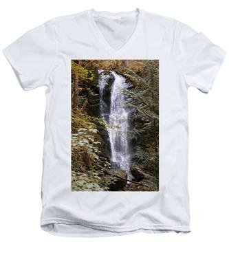 Magical Falls Quinault Rain Forest Men's V-Neck T-Shirt