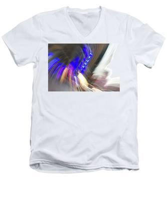 Manhattan Twist Men's V-Neck T-Shirt by Kyle Lee