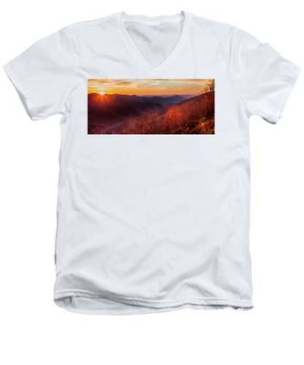 Melody Of Autumn Men's V-Neck T-Shirt