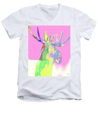 Moosemerized Men's V-Neck T-Shirt