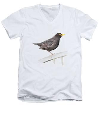 Ms. Blackbird Is Brown Men's V-Neck T-Shirt