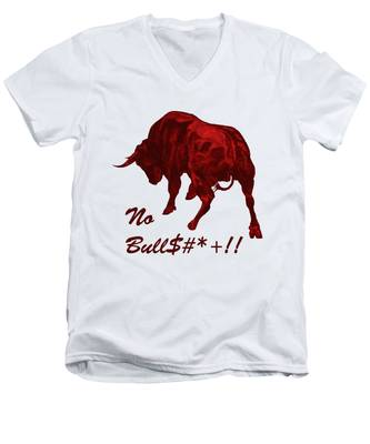 No Bullshit Men's V-Neck T-Shirt