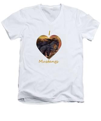On Sugar Mountain Men's V-Neck T-Shirt