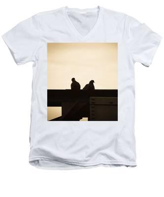 Pigeon And Steel Men's V-Neck T-Shirt