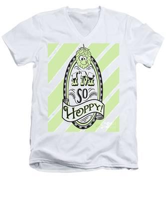 So Hoppy Men's V-Neck T-Shirt
