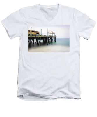 Softly On The Pier Men's V-Neck T-Shirt
