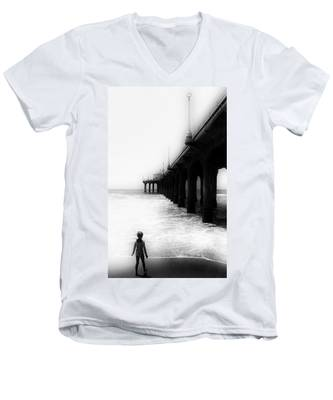 Testing The Waters Men's V-Neck T-Shirt