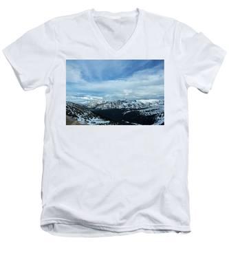 Top Of The Rockies Men's V-Neck T-Shirt