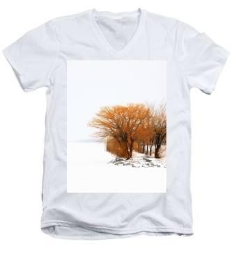Tree In The Winter Men's V-Neck T-Shirt