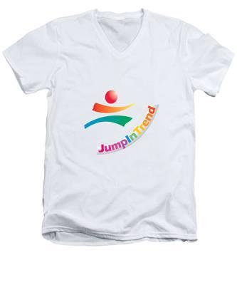 Trendy Men's V-Neck T-Shirt