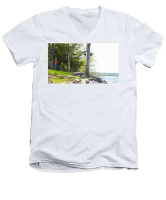 Waiting Ashore Men's V-Neck T-Shirt