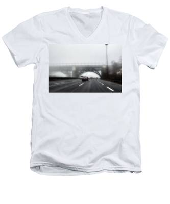 Men's V-Neck T-Shirt featuring the photograph Winter-2 by Joseph Amaral