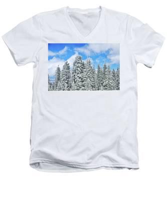 Winterscape Men's V-Neck T-Shirt
