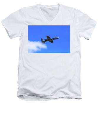 A-10c Thunderbolt II In Flight Men's V-Neck T-Shirt