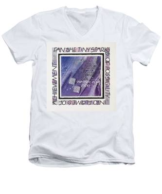 Fan The Sparks Men's V-Neck T-Shirt