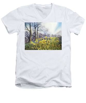 Field Of Hope At Burton Agnes Men's V-Neck T-Shirt