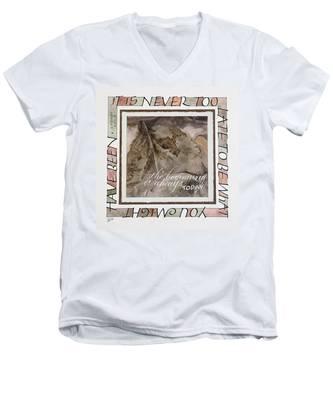 Never Too Late Men's V-Neck T-Shirt