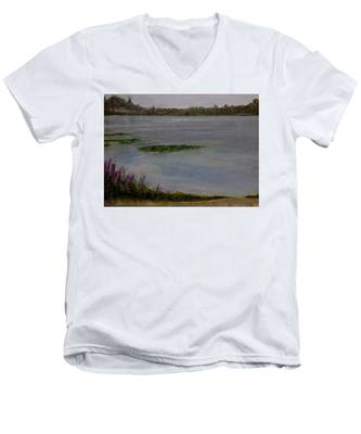 Silver Lake During The Wildfires Men's V-Neck T-Shirt