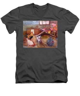 An026 Men's V-Neck T-Shirt