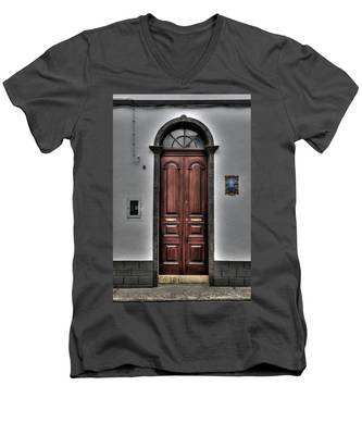 Men's V-Neck T-Shirt featuring the photograph Architecture Soa Miguel Azores by Joseph Amaral