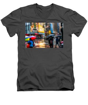 A Rainy Day In New York Men's V-Neck T-Shirt