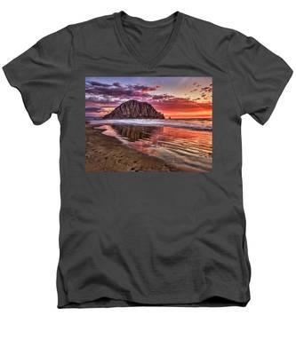 Crimson Sunset Men's V-Neck T-Shirt