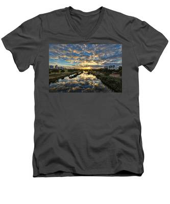 A Magical Marshmallow Sunrise  Men's V-Neck T-Shirt