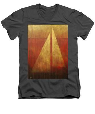 Abstract Sail Men's V-Neck T-Shirt