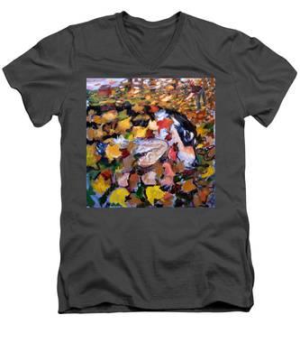 An006 Men's V-Neck T-Shirt