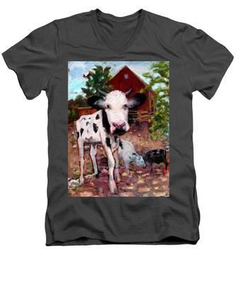 An010 Men's V-Neck T-Shirt