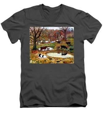 An014 Men's V-Neck T-Shirt