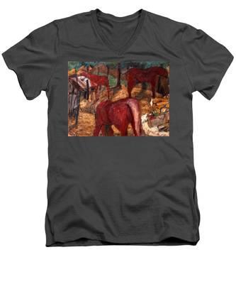 An020 Men's V-Neck T-Shirt