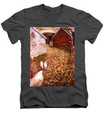 An023 Men's V-Neck T-Shirt