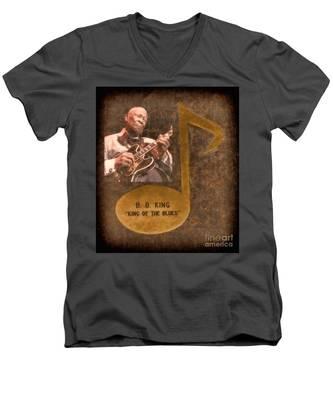 Bb King Note Men's V-Neck T-Shirt