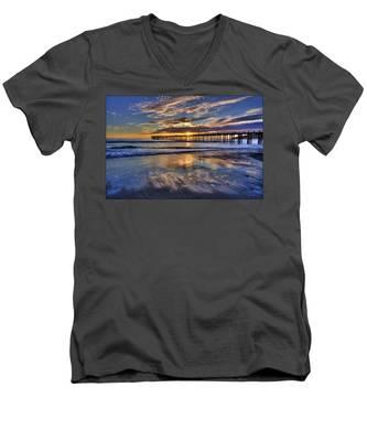 Beautiful Cayucos Men's V-Neck T-Shirt