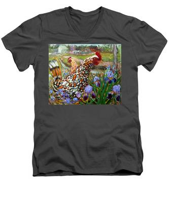 Chick And Iris Men's V-Neck T-Shirt