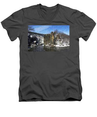 Great Falls Painted Men's V-Neck T-Shirt