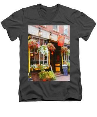 Green Dragon Tavern Men's V-Neck T-Shirt