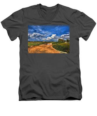 Israel End Of  Spring Season  Men's V-Neck T-Shirt
