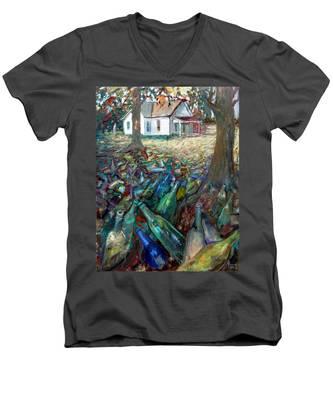 La033 Men's V-Neck T-Shirt