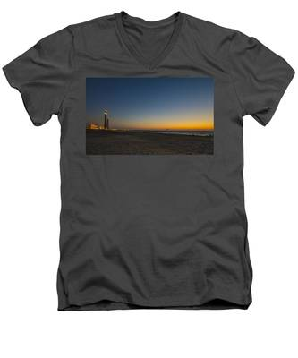 magical sunset moments at Caesarea  Men's V-Neck T-Shirt